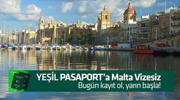 yeşil pasaporta malta vizesiz