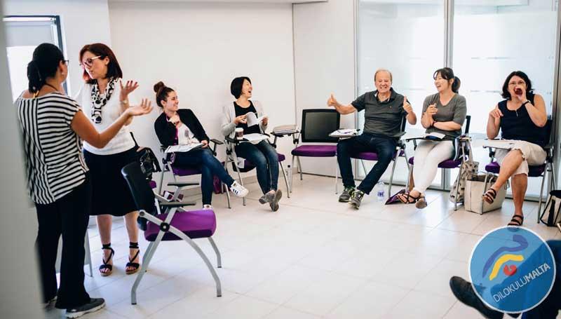 ACE Malta Dil Okulu Küçük ve Eğlenceli Sınıflar