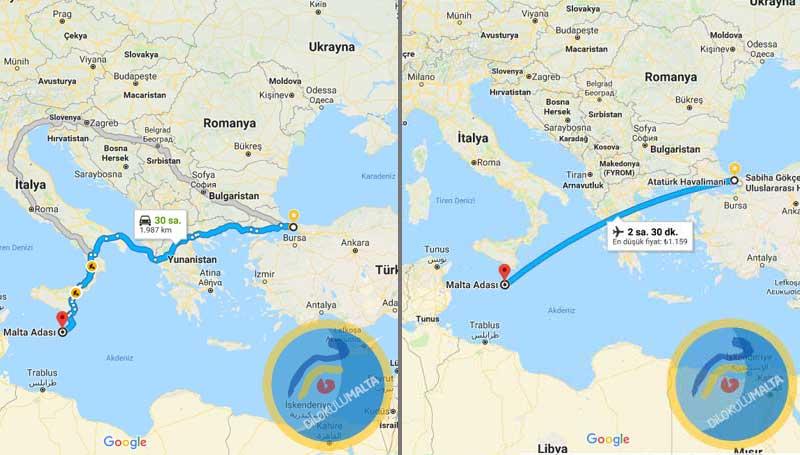 İstanbul'dan Malta'ya nasıl gidilir?
