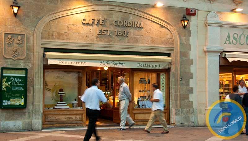 Malta Kafeleri - Coffee Shops - Cordnina Kafe, Malta 1837