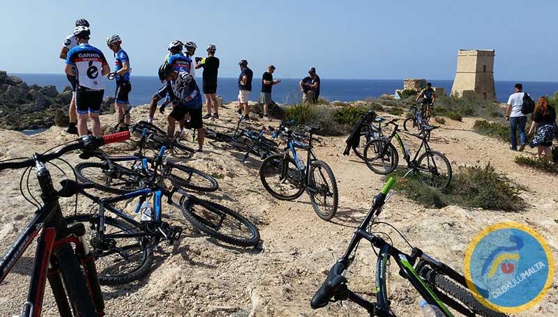 Malta'da Dağ Bisikleti Aktivitesi