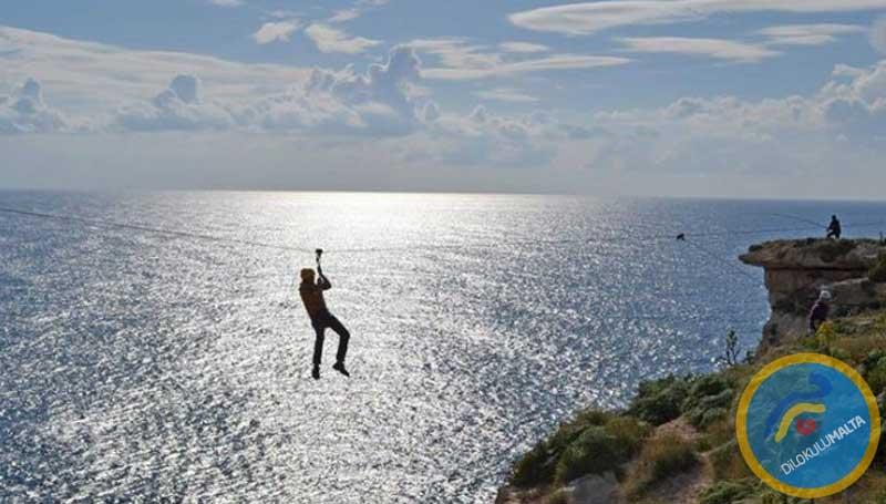 Malta'da Zip Line - Adrenalin Tutkunları İçin